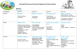 Curriculum - 4yr Plan - Burnsall Primary School