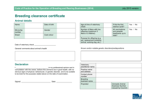 Breeding clearance certificate [MS Word Document