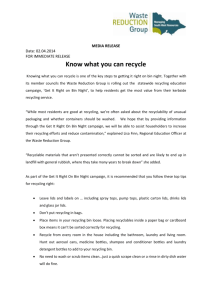 Know what you can recycle - Warrnambool City Council