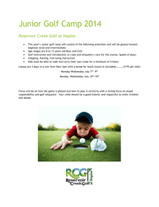 Junior Golf Camp 2014
