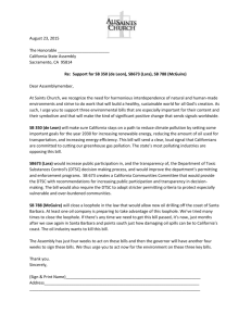 Letter to Assemblymembers - All Saints Episcopal Church