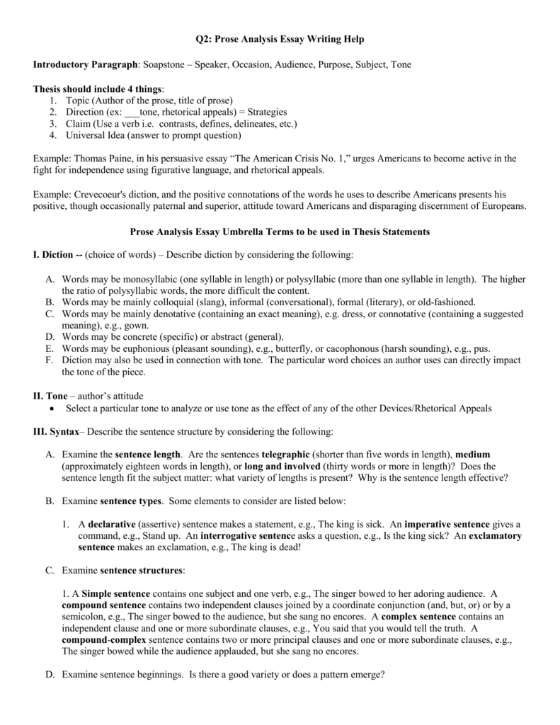 Worksheets Rhetorical Devices Worksheet q2 prose analysis umbrella terms essay writing help