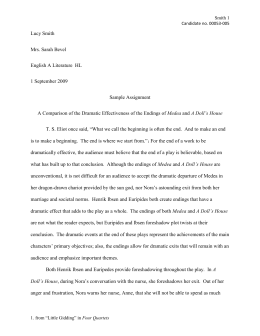 MLA sample essay template