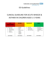 Guidelines asthma ages 1-5