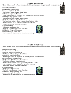 Possible Gothic Novels: *Some of these novels will have mature