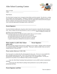 Forms for Parents