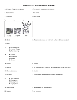 7th Grade Science – 1st Semester Final Review ANSWER KEY 1