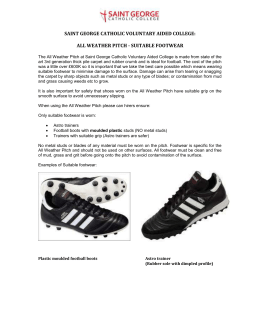 All Weather Pitch Footwear Policy