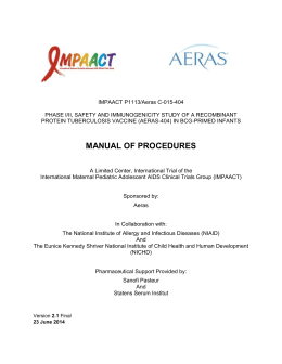 P1113 Manual of Procedures - 23 June 2014