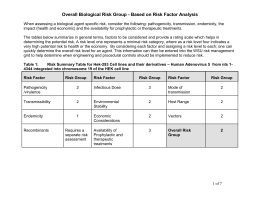 HEK 293 Cell Line RG Risk Assessment
