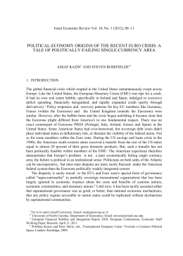 Israel Economic Review Vol. 10, No. 1 (2012), 00–11 Israel