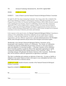 National Chemical & Biological Defense Consortium LOI