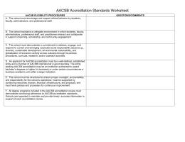 Standards Worksheet - AACSB International