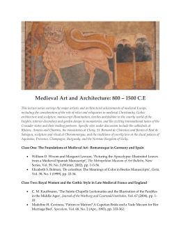 Medieval Art and Architecture: 800 – 1500 CE
