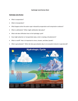 Hydrologic review sheet