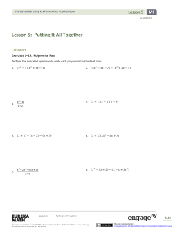 Lesson 5: Putting It All Together