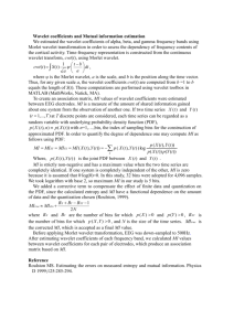 Wavelet coefficients and Mutual information estimation We