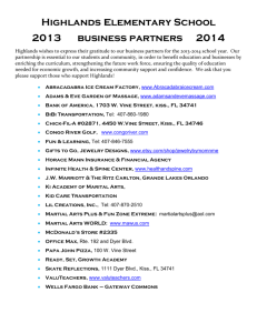 business partners - Highlands Elementary