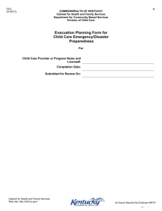 2-3 Emergency disaster plan template