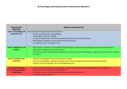 IB Psychology Learning Outcomes & Assessment Objectives