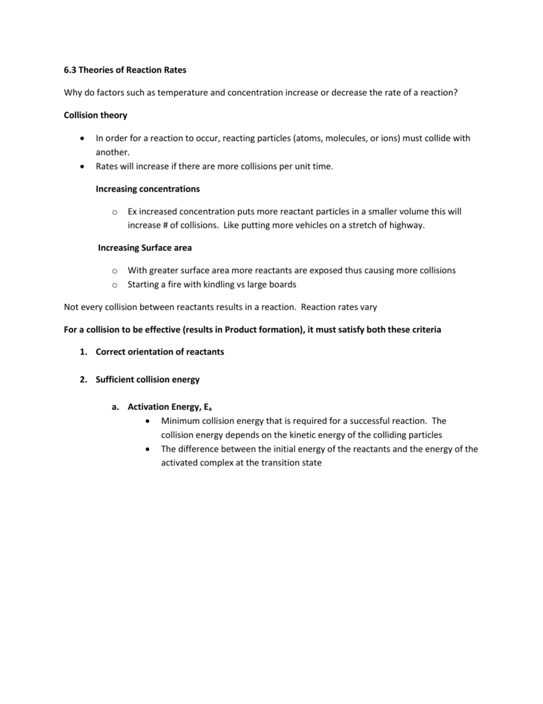 Worksheets Collision Theory Worksheet worksheet collision theory fun study 6 3 potential