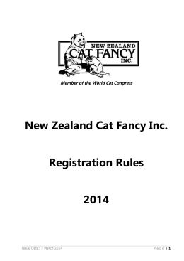 Developing Breeds - New Zealand Cat Fancy