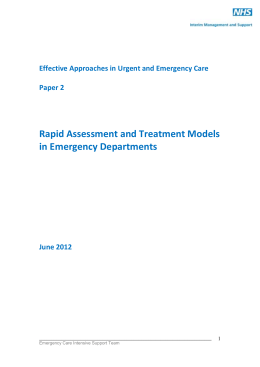 Effective Approaches in Urgent and Emergency Care