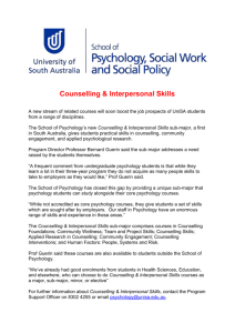 Counselling & Interpersonal Skills