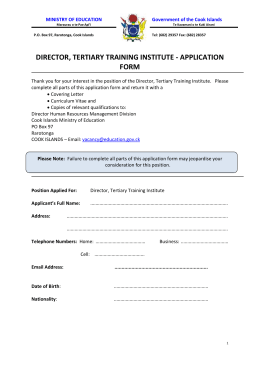 Application Form- Director CITTI
