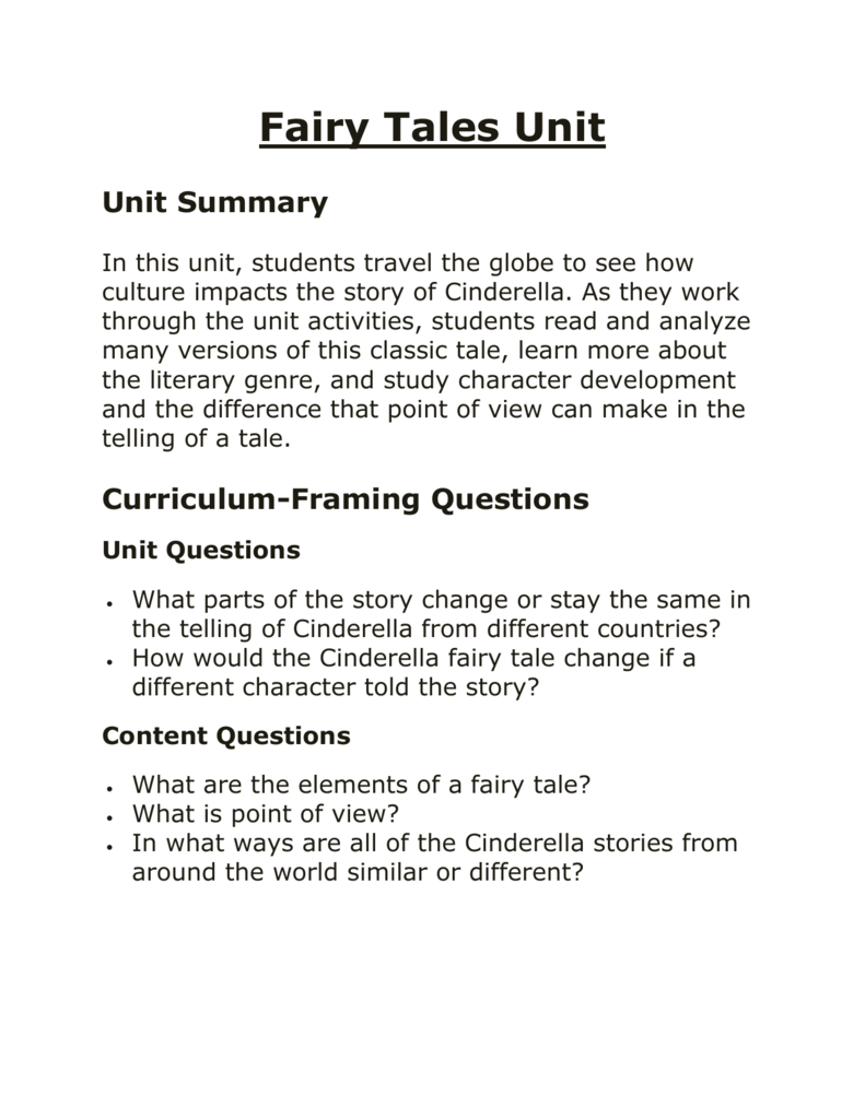 Fairy Tales - Real Classroom Ideas