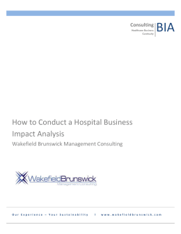 How to Conduct a Hospital Business Impact Analysis