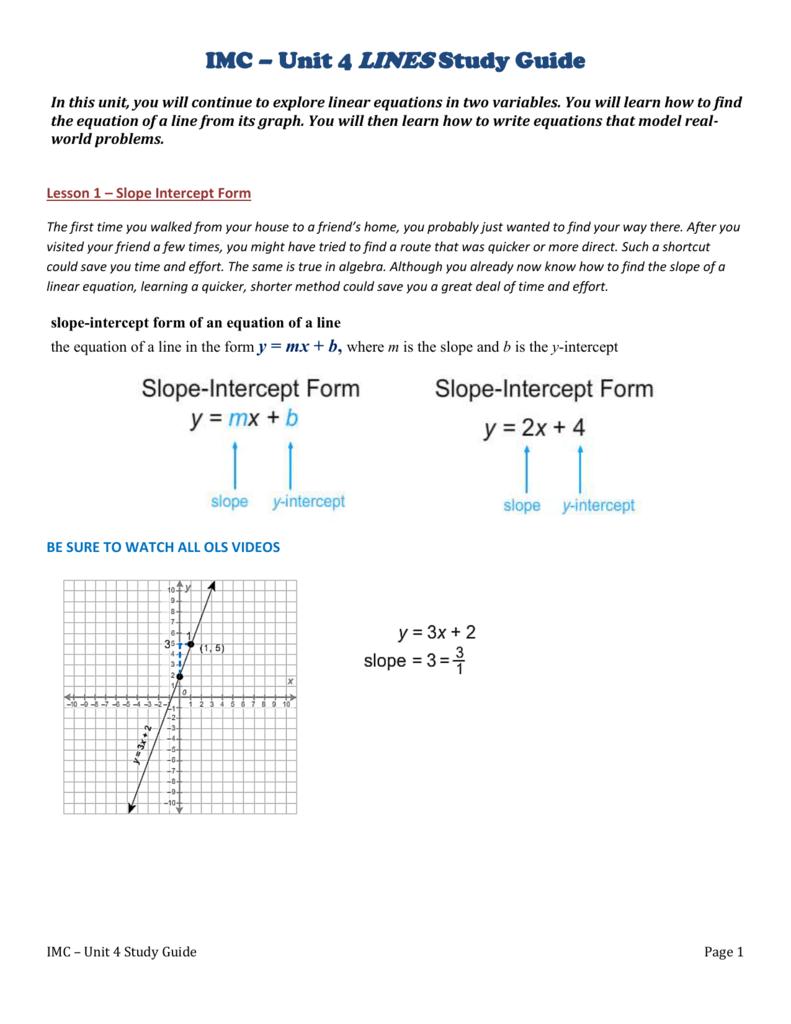 Lesson 8 core focus linear models mrs volpe falaconquin