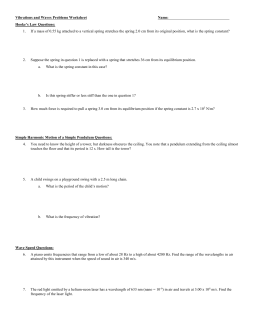 Waves Problems Worksheet II