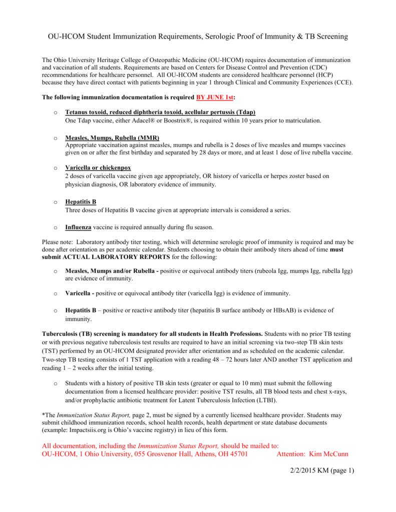Ohio University Academic Calendar.Checklist Ohio University College Of Osteopathic Medicine