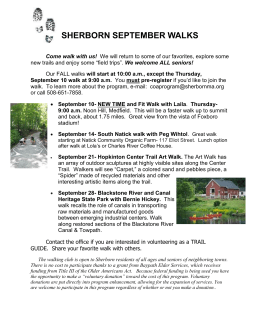 September 2015 Walks - Town of Sherborn Massachusetts