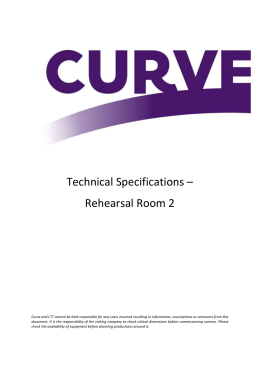 Curve Rehearsal Room 2 Technical Specification 2015 PDF