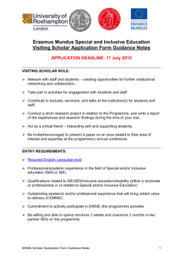 EMSIE Visiting Scholar Application 2015