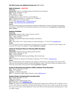 Fall 2015 Career Fair Additional Events