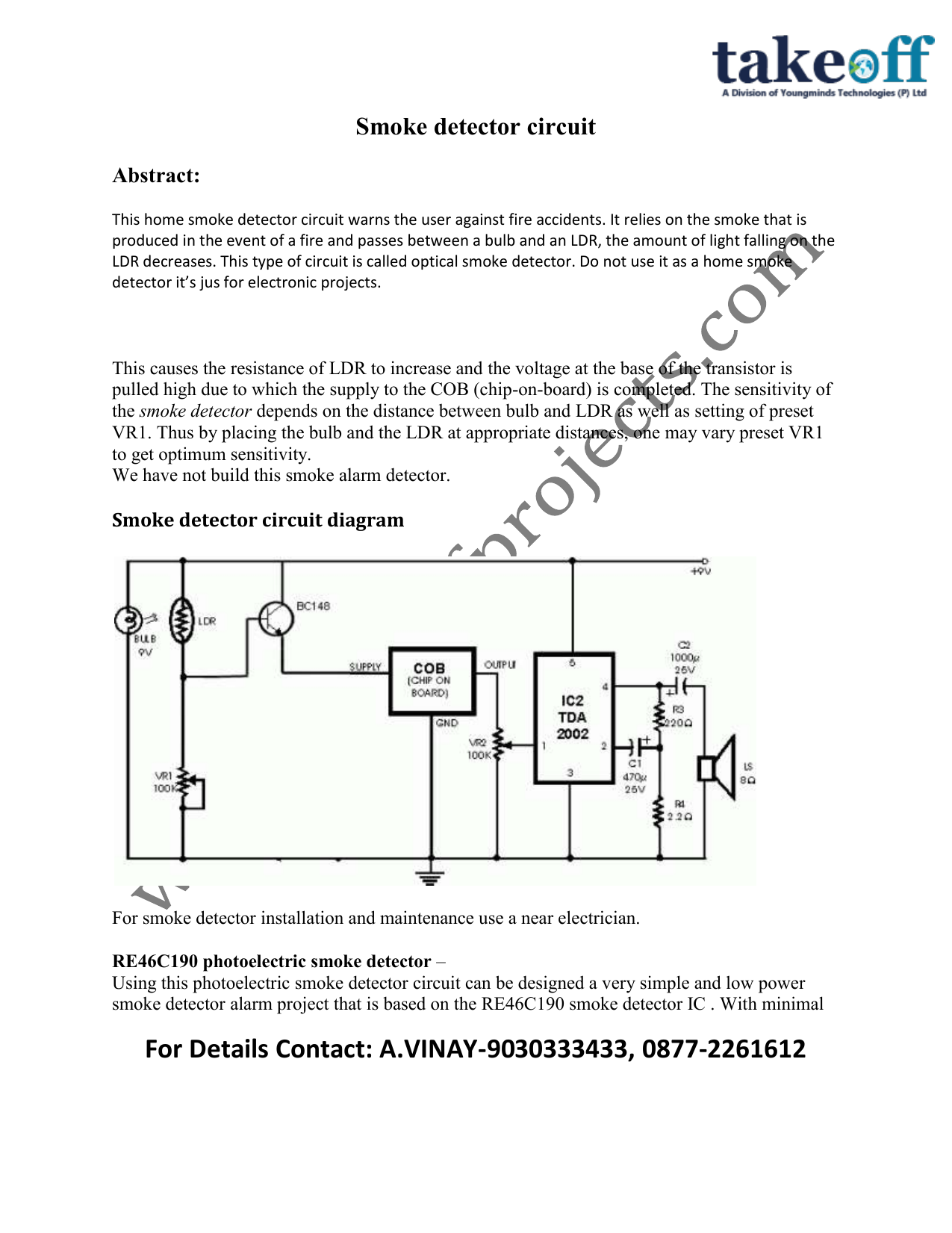 Smoke detector circuit diagram