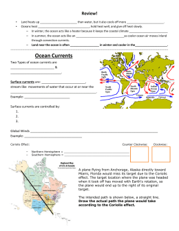 Ocean Currents - Atlanta Public Schools