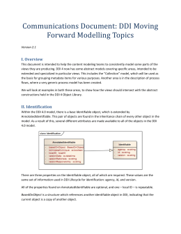 Communications Document Modelling DDI 4.v2.1