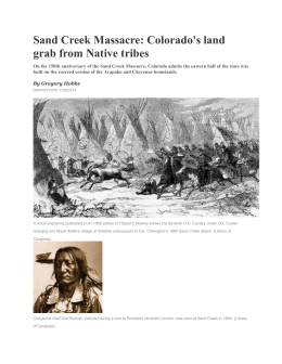 Sand Creek Massacre: Colorado`s land grab from