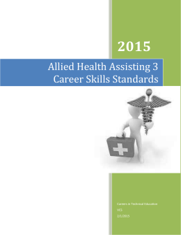 ASM CTE Standards and Benchmarks For Students - MHS-ASM