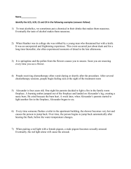 Classic Conditioning Worksheet