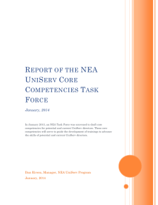 NEA UniServ Core Competencies Report 2014