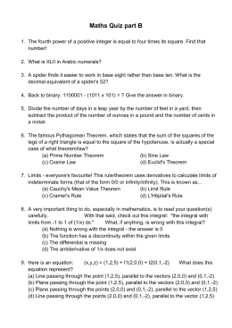 443-Maths quiz B