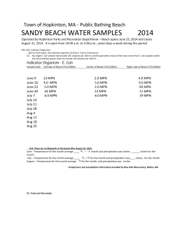 Public-Bathing-Beach-water-test-results