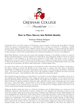 "Transcript for ""How to Place Slavery into British Identity"""