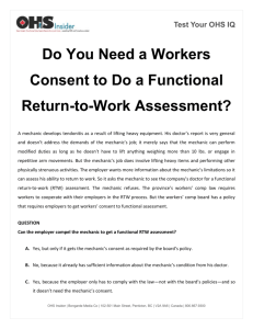 Test Your OHS IQ Do You Need a Workers Consent to
