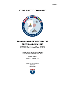 SAREX Greenland Sea 2013 Final Exercise Report